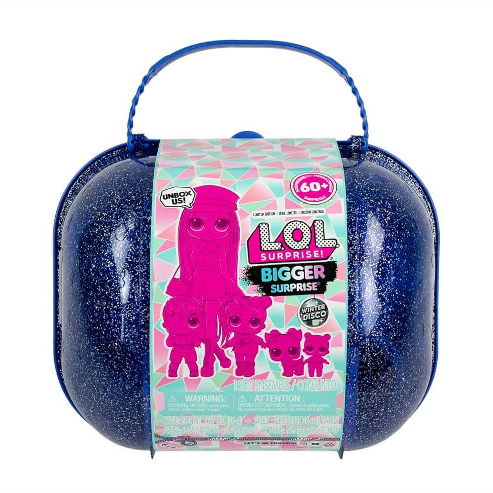 Кукла LOL Bigger Surprise Winter Disco (фиолетовый чемоданчик с OMG куклами)